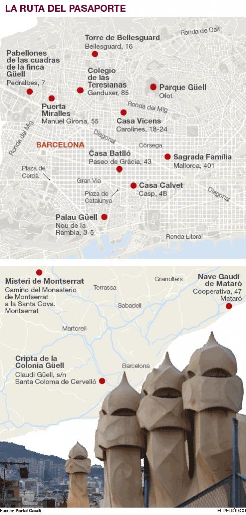 Pasaporte Gaudí - El Periódico